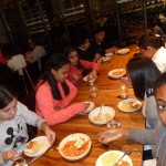 Field trip eating pasta