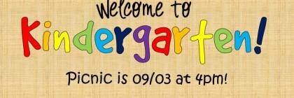 kindergarten welcome picnic